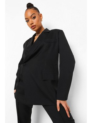 Boohoo Wrap Front Tailored Blazer