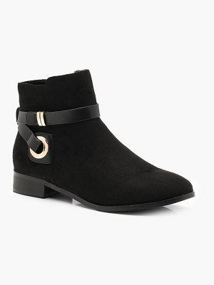 Boohoo Wrap Strap Chelsea Ankle Boots