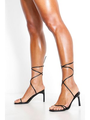 Boohoo Wrap Strappy Heeled Sandals