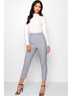 Boohoo Woven Dogtooth Slim Fit Pants