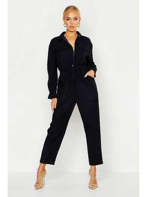 Boohoo Zip Front Denim Boilersuit