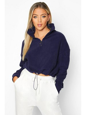 Boohoo Zip Through High Neck Oversized Hoodie
