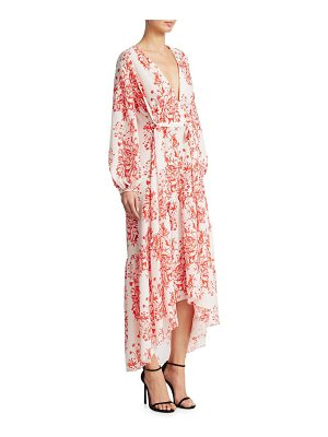 BORGO DE NOR beatrice crepe cape maxi dress
