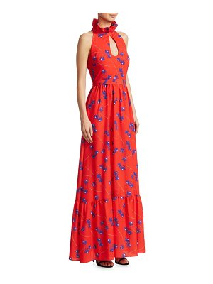 BORGO DE NOR leonora sleeveless keyhole maxi dress