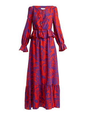 BORGO DE NOR lily marquesa floral print silk dress