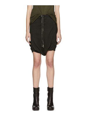 Boris Bidjan Saberi Resin Dyed Drop Shorts