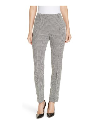 BOSS acrila check jacquard straight leg trousers