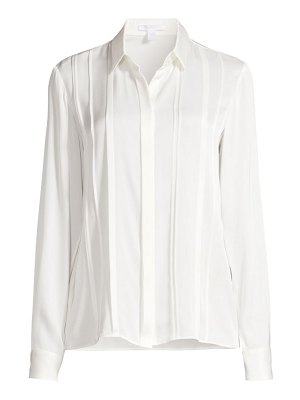 BOSS besana crêpe de chine stretch silk blouse