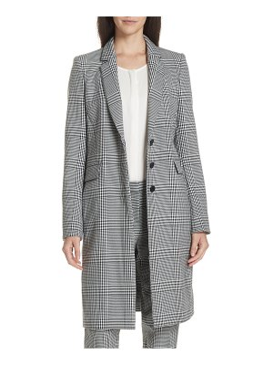 BOSS canati long plaid jacket