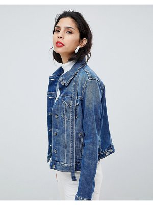 BOSS Casual Boss Casual Denim Jacket with Tie Detail