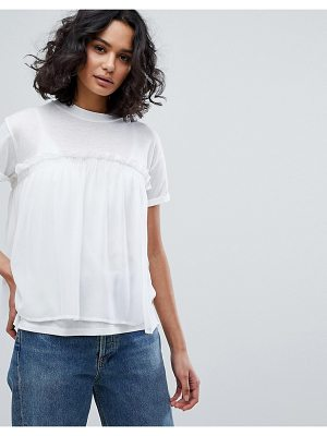 BOSS Casual Georgette Layer T-Shirt