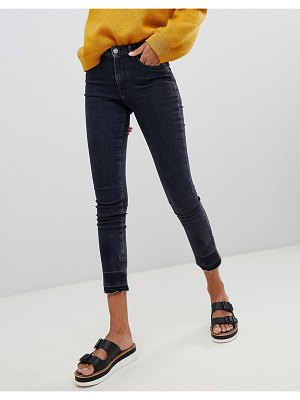 BOSS Casual skinny jeans with raw hem