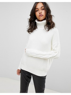 BOSS Casual sweater with sleeve detail