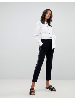 BOSS Casual tailored pants with side panel