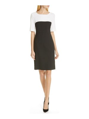 BOSS daina colorblock sheath dress