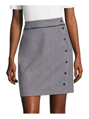 BOSS denim striped skirt