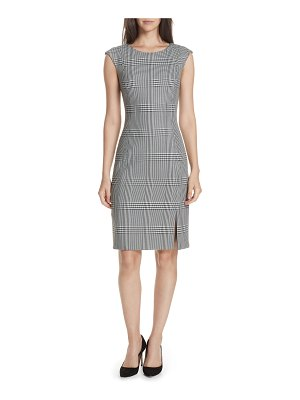 BOSS deoboa glen plaid sheath dress