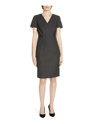 BOSS 'deshina' short sleeve wool sheath dress
