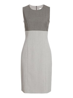 BOSS dibena colorblock stretch wool sheath dress