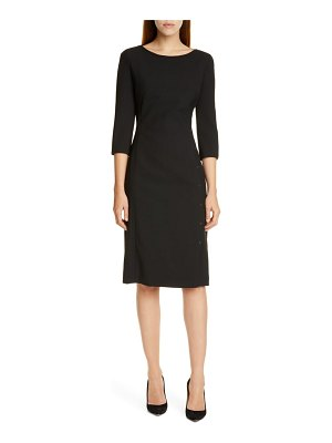 BOSS dikena ponte sheath dress