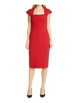 BOSS drilekara cap sleeve knit dress