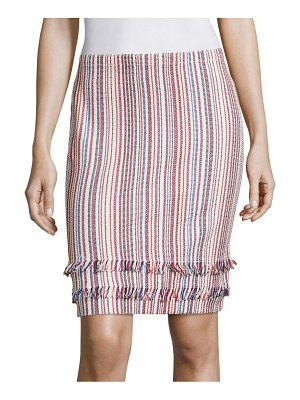 BOSS Fabienne Striped Knit Skirt