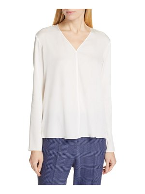 BOSS ivala stretch silk blouse