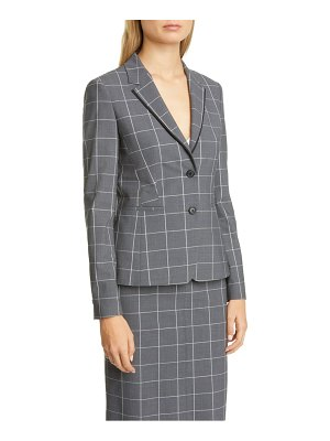 BOSS jensina windowpane check blazer