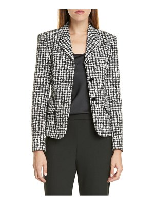 BOSS jusena stretch jacquard jacket