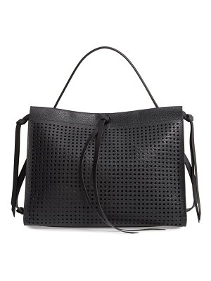 BOSS katlin small perforated leather tote