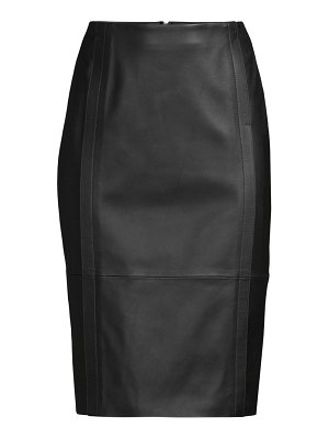BOSS sepassa leather pencil skirt