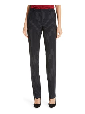 BOSS tamea pinstripe stretch trousers