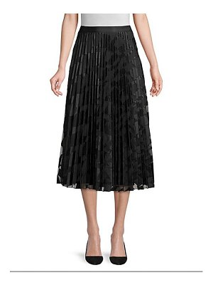 BOSS valace wave embroidered plisse skirt