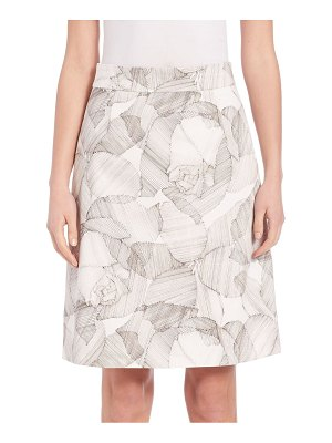 BOSS Victyna Printed A-line Skirt