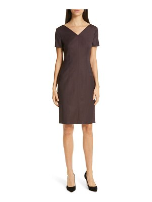 BOSS dabahana wool sheath dress