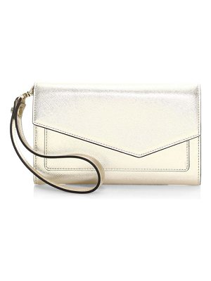Botkier cobble hill metallic leather clutch