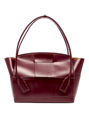 Bottega Veneta the arco large intrecciato leather bag