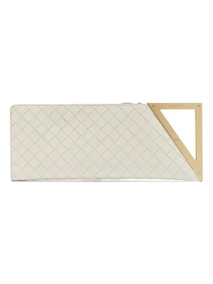 Bottega Veneta baguette intrecciato leather clutch