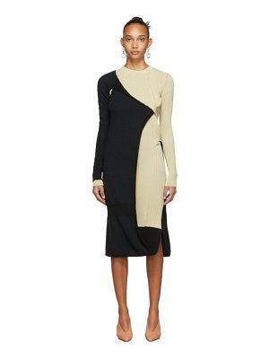 Bottega Veneta black and beige mohair dress