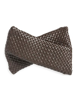 Bottega Veneta bv crisscross padded intrecciato leather clutch