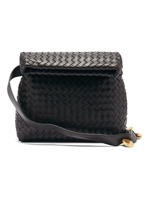 Bottega Veneta bv fold intrecciato leather shoulder bag
