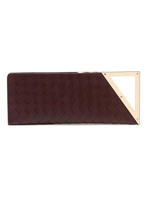 Bottega Veneta bv rim intreciatto leather clutch
