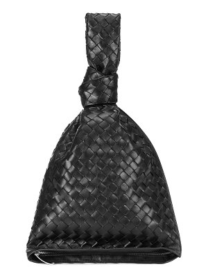 Bottega Veneta bv twist leather clutch