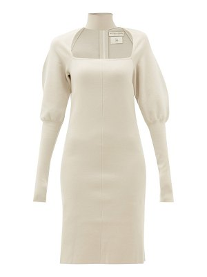 Bottega Veneta choker gigot-sleeve wool-blend dress