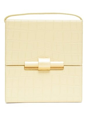 Bottega Veneta cigarette box crocodile effect leather bag