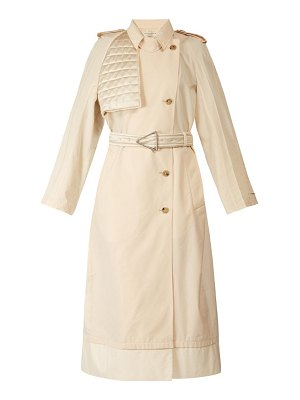Bottega Veneta contrast panel belted trench coat