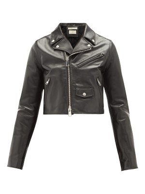 Bottega Veneta cropped leather biker jacket