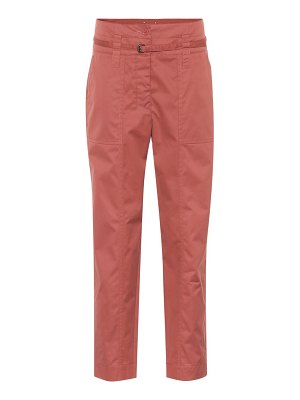 Bottega Veneta high-waisted cotton-blend pants