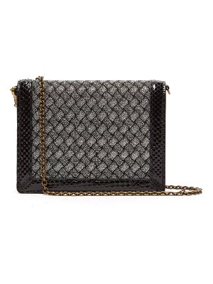 Bottega Veneta Intrecciatio Metallic Watersnake Trimmed Clutch