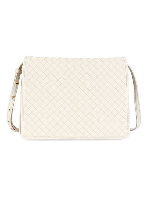 Bottega Veneta Intrecciato Leather Flap Shoulder Bag